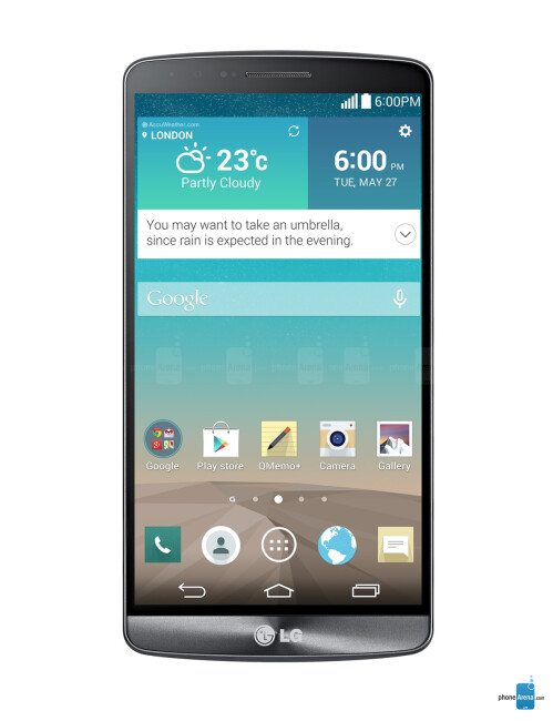 LG G3, 76.33% screen-to-body ratio