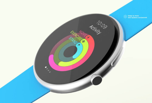Round Apple Watch concept by Alcion
