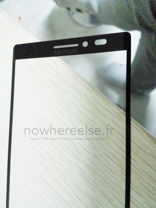 Front panel of Microsoft's first own-branded Windows smartphone leaked?
