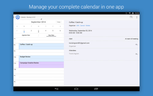 Accompli email app for Android