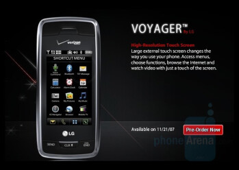 LG Voyager and Venus available for Pre-Order