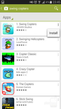 Install apps on an Android device