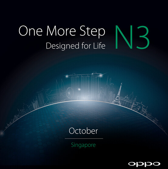Oppo N3 is teased by the manufacturer - Oppo N3 teaser posted, hints at October unveiling (Press Renders added)