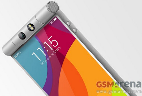 Previous leak of Oppo N3 press renders displayed tube like swiveling camera