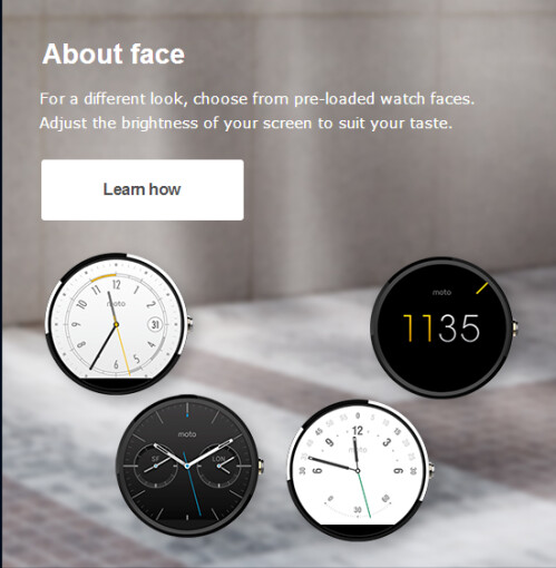 Gold Moto 360 appears and quickly vanishes