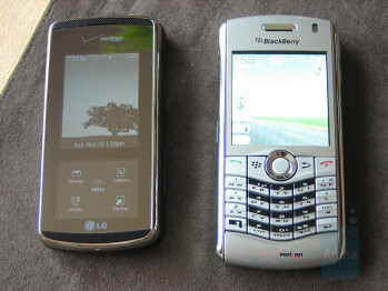 Next to BlackBerry Pearl