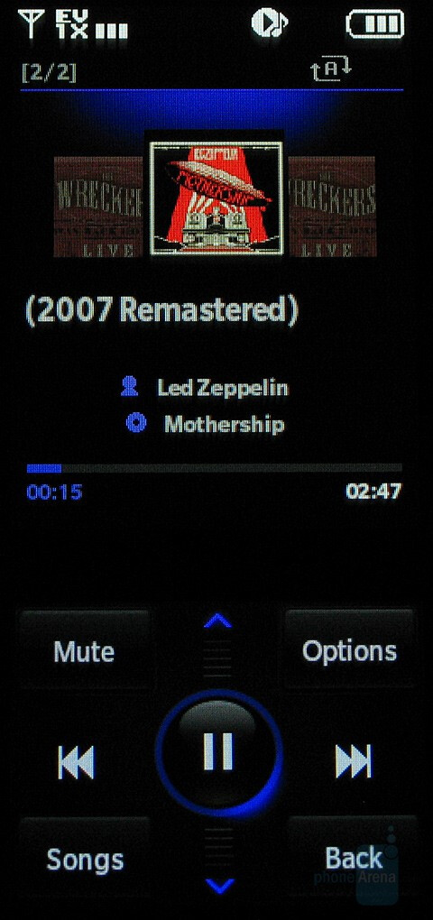 Media player interface - Hands-on with LG Venus