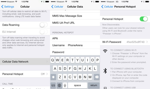 Use your iPhone 6 as a personal mobile hotspot