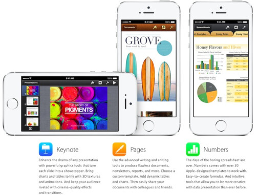 Install one of Apple's awesome suite of free applications