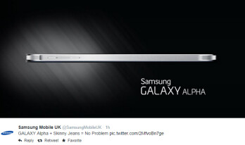 Samsung takes a jab at Apple, says you'll have no problems carrying a Galaxy Alpha in skinny jeans