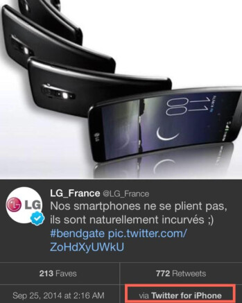 #Bendgate: LG France pokes fun at the iPhone 6 Plus, completely backfires