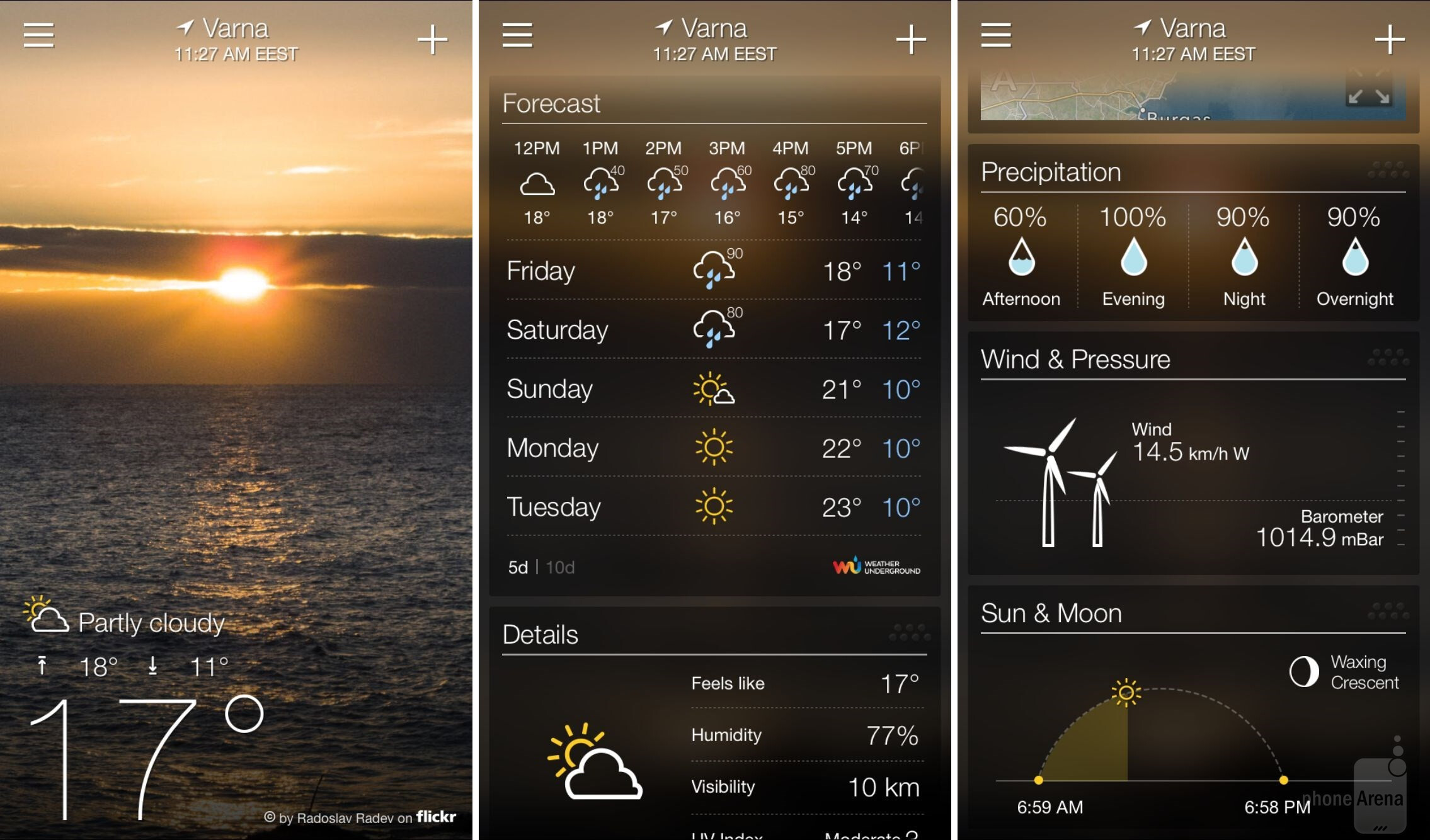 15 beautiful  free weather app replacements for iphone and