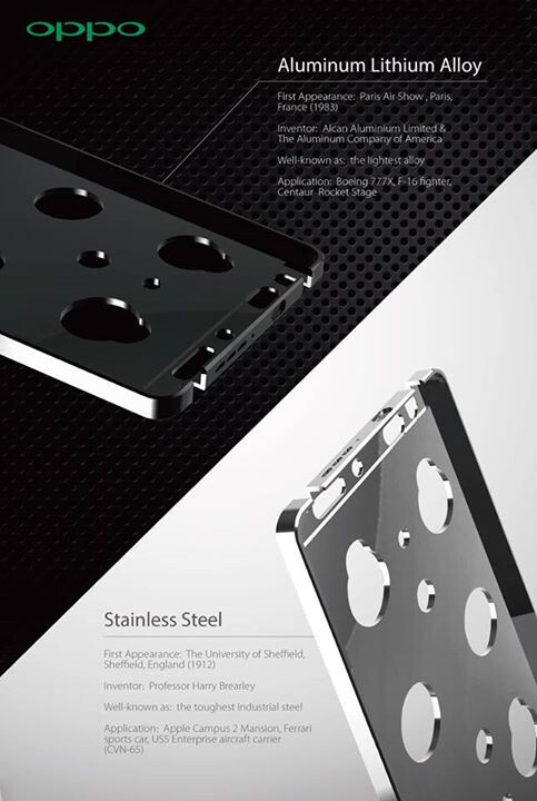The Oppo N3 will have a stainless steel version as well, lithium-aluminum one confirmed again