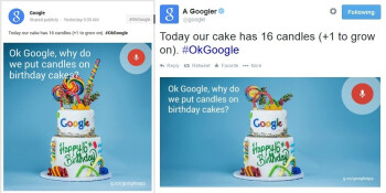Did Google offer a hint at Android L's nickname on its 16th birthday cake?