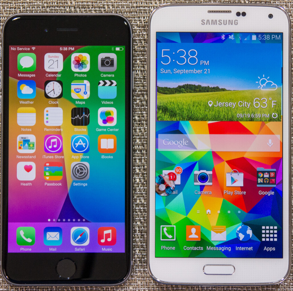 iphone 5 vs galaxy s5 apple iphone 6 vs samsung galaxy s5 vote for the better 8889