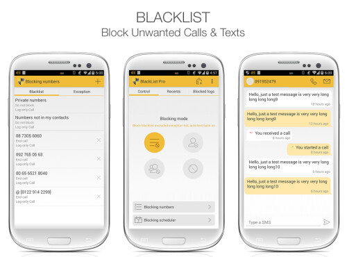 Blacklist - Block Calls & Texts