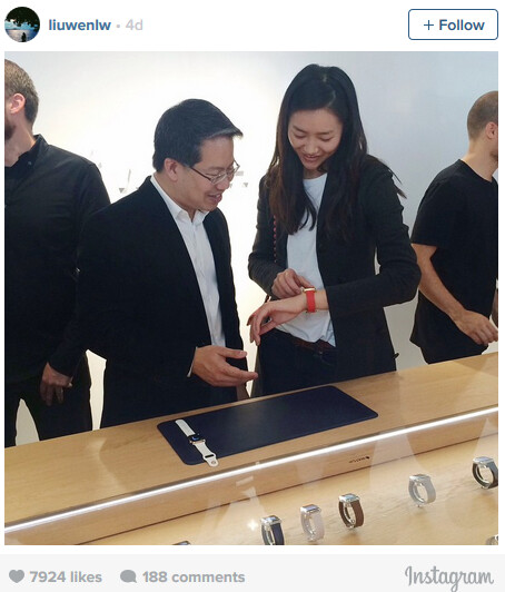 Liu Wen photographed wearing an Apple Watch - Apple turns to a fashion model to help launch its smartwatch?