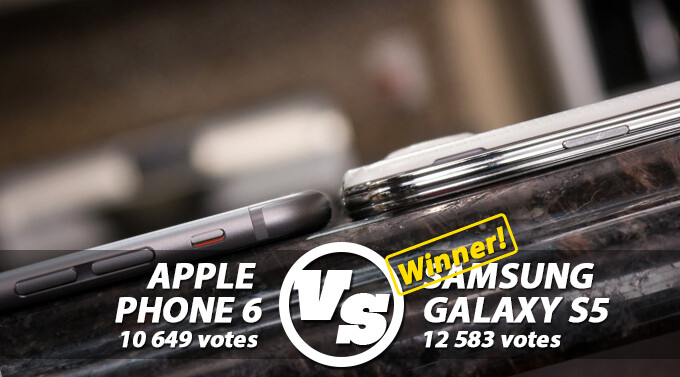 Reader's choice: Samsung Galaxy S5 overpowers the Apple iPhone 6