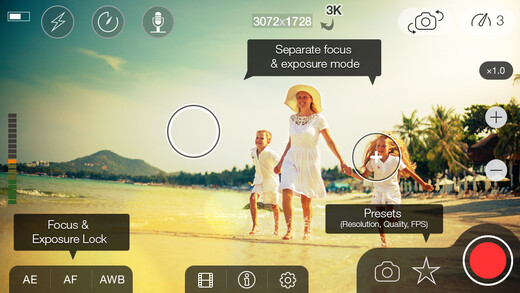 MoviePro updated for iOS 8: brings 3K video to iPhone 6, high bitrates