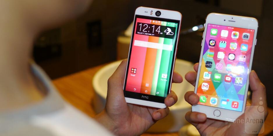 HTC Desire EYE versus Apple iPhone 6 Plus: first look