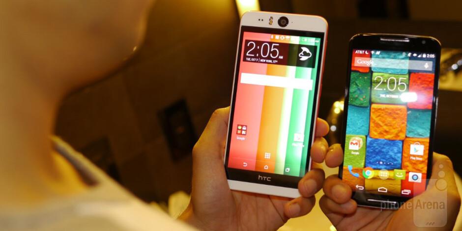 HTC Desire EYE versus Motorola Moto X (2014): first look