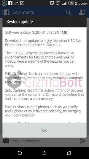 HTC One (M8) receives Android 4.4.4 KitKat and HTC's EYE ...
