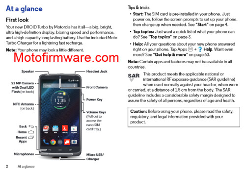 Motorola DROID Turbo's battery, plus images from its User Guide