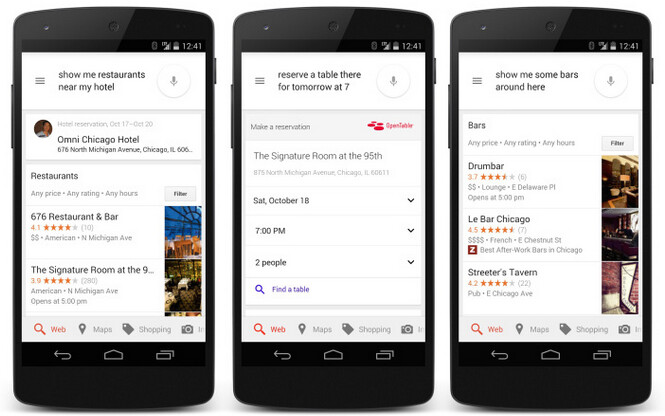 Google Now makes it easy to make reservations and find your way around while on vacation - Update to Google Now gives it conversational skills to help you make reservations
