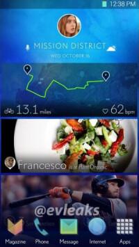 @evleaks' sneak peek of Samsung's alleged UI