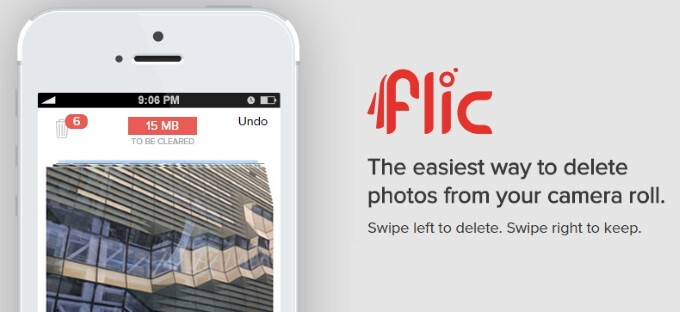 Flic removes unwanted photos from your iOS 8 Photoroll with Tinder-esque swiping