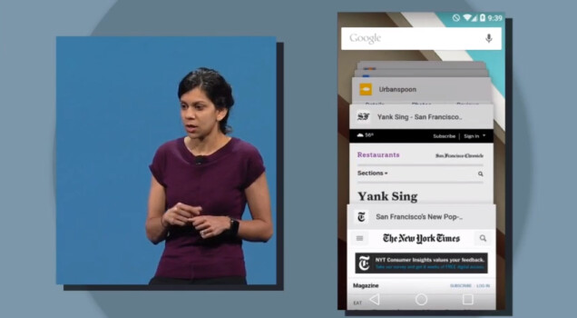 Android L multitasking presentation at Google I/O 2014 - Did you know: how Android multitasking works and the changes in L release