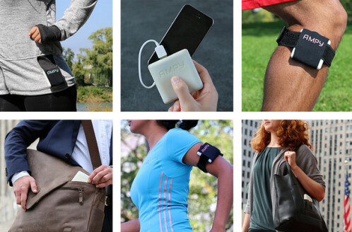 Ampy charges your phone using kinetic energy