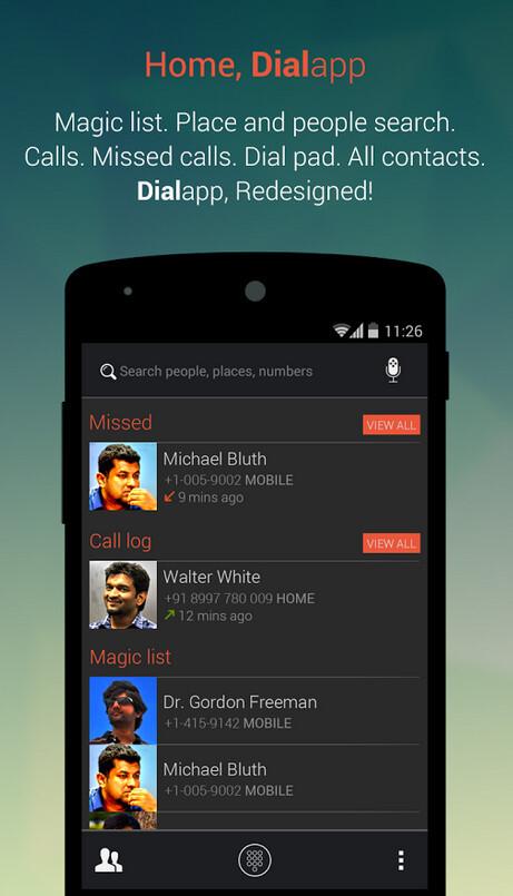 DialApp KitKat Dialer screenshots