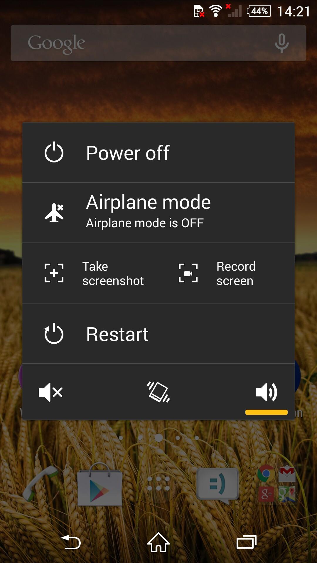 Как сделать снимок экрана (скриншот) Sony Xperia. (Три) 75
