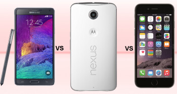 Google Nexus 6 vs Samsung Galaxy Note 4 vs Apple iPhone 6 Plus: specs comparison