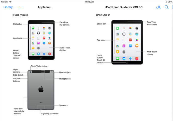 apple ipad event rumor round up  air  and ipad mini  specs     ipad images from the official ios   user guide