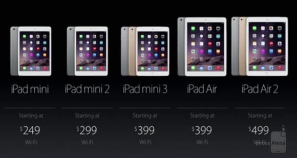 Apple discounts iPad Air and iPad mini models, now starting at $249
