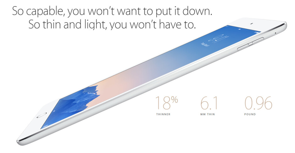 Apple iPad Air 2 goes official: world's thinnest tablet