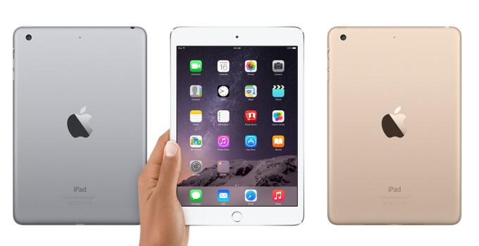 Apple iPad mini 3 vs Apple iPad mini 2 vs Apple iPad mini: size and specs comparison