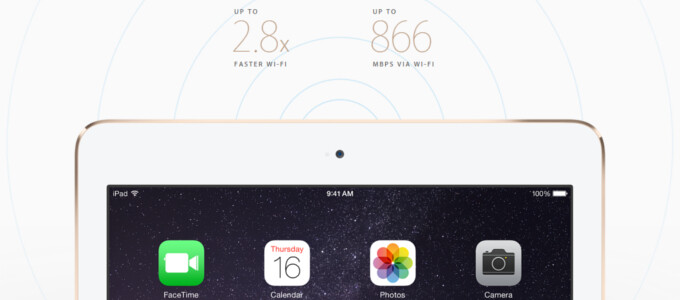 iPad Air 2 to provide much faster than before Wi-Fi connection speeds, supports record number of LTE bands