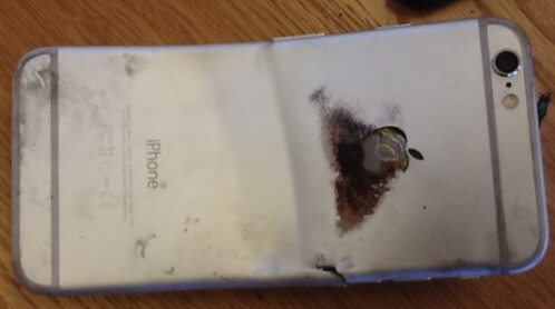 Apple iPhone 6 bends and catches on fire