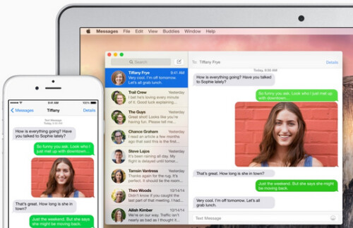 SMS relay will let you send and receive SMS messages using an iPad