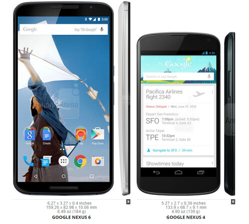 See? The 4.7-inch Nexus 4 is (of course) even smaller!
