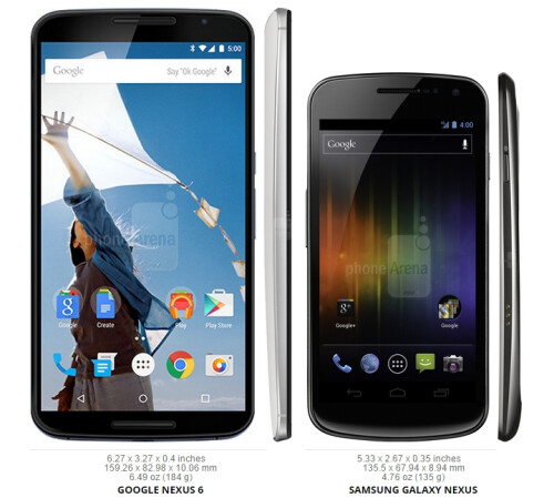 However, the Samsung Galaxy Nexus from 2011 is a bit taller than the Nexus 4, despite the fact that it has a similar 4.7-inch screen.
