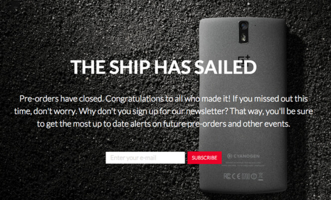OnePlus has completed its first pre-order period with a second one coming November 17th - OnePlus to give consumers a second chance to pre-order the OnePlus One