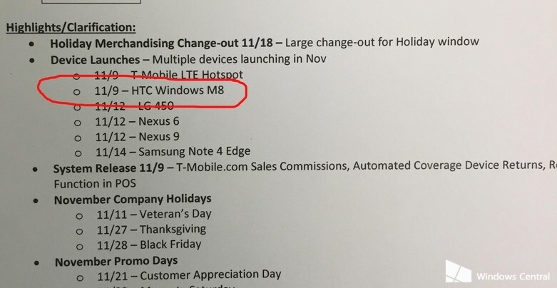 Samsung Galaxy Note Edge and HTC One (M8) for Windows expected to be launched by T-Mobile in the coming weeks