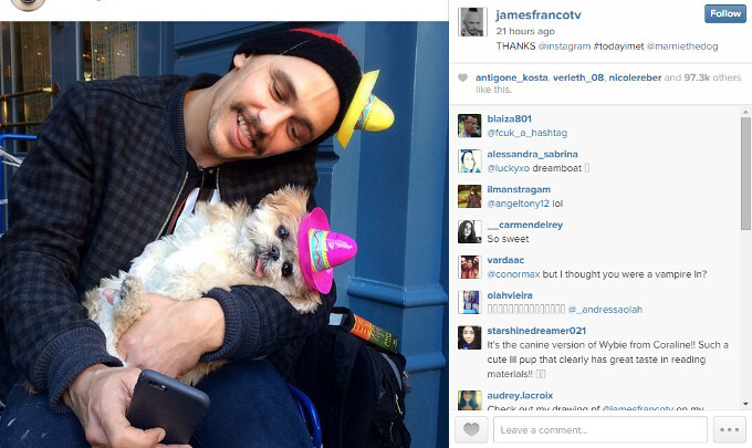 Ouch! After starring in a number of Motorola DROID Turbo ads, James Franco is already back to his iPhone 6?