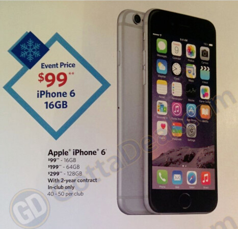 The Apple iPhone 6 is part of an early Black Friday sale at Sam's Club - Buy the Apple iPhone 6 starting at just $99 from Sam's Club, beginning November 15th
