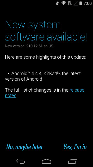 The OG Motorola Moto G receives Android 4.4.4 - Last year's Motorola Moto G getting update to Android 4.4.4 in the U.S.