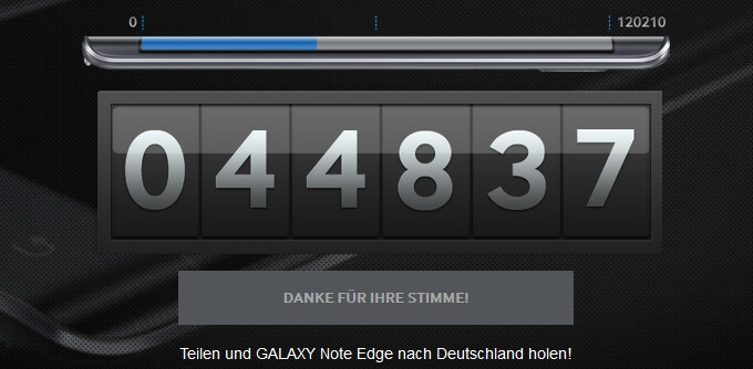 Samsung won't launch the Galaxy Note Edge in Germany unless 120,000 people vote for its release